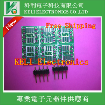 Free  Shipping 10PCS/LOT MSOP / SOIC / TSSOP SOP8 turn DIP8 IC adapter Socket / Adapter plate / PCB PB-FREE 100%New Original