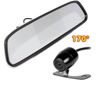 "Car Rear View Kit 4 3"" Mirror Monitor + Waterproof Reverse Car Backup Camera 170 degree"