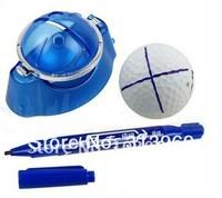 50pcs/lot Golf Ball Line Marker Template Platform + Ink Pen