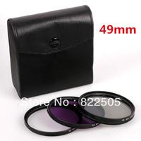 3PCS 49mm Polarized CPL+UV+FLD CAMERA FILTER Kit for Nikon D3100 D5000 D5100 D7000 free shipping