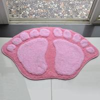 Carpet pink big feet mats doormat bath mat absorbent pad slip-resistant pad mats bed blankets