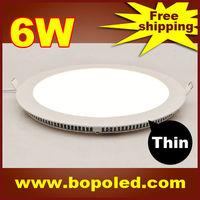 Free shipping BOPO Ultra-thin high-brightness LED Panel light SMD2835 110~265V Circular White aluminum 6W IP30 Ceiling light