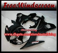 motofairing -flat glossy black fairing for 2005 YAMAHA YZF-R6 YZFR6 05 YZF R6 bodywork fairings kit