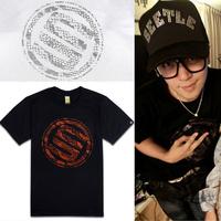 Free shipping 2013 circle fashion stage serpentine pattern male short-sleeve T-shirt