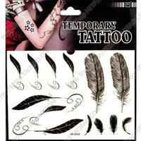 2014 Limited Tatuagem Free Shipping Tattoo Stickers Feather Waterproof Small Design Style Make Up Sticker Ink Beauty Makeup