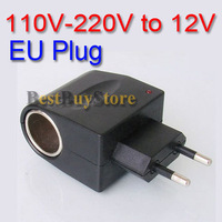 (4 piece / lot ) 12V Household Car Charger Cigar Cigarette Lighter 110V-220V AC to 12V DC EU Car Power Adapter Converter