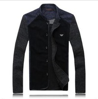 Free shipping New arrivals selling hot The fashion leisure Brand men's jacket Black/grey Plus size M-3XL Sweater jacket