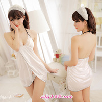 new product  Snow White Honor! Transparency spaghetti strap nightgown lovers charm of the temptation lingerie,uniform temptation