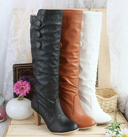 Free Shipping Over Knee Boots Sexy Women High Heel Shoes Big Size 34-43 Fashion Brand Ladies Dress Casual Boots Pumps DXB023