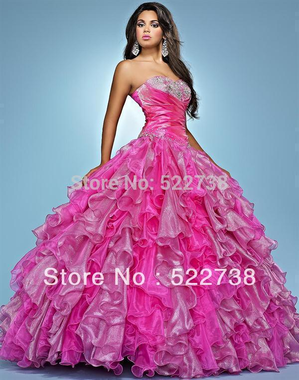 Free shipping sweet 16 crystal red quinceanera dresses 2014 ...