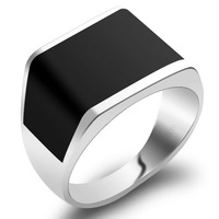 2013 Fashion Jewelry Mens 925 Sterling Silver Brazilian Black Onyx Affordable Ring
