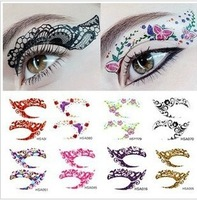 Wholesale 20pairs/lot Super Vintage Temporary Tattoo EyeLiners Sticker Shadow Smoky Eyes Shadow Eyeliner 9*14CM Free Shipping