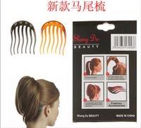 Horseshoers insert comb hair maker simple fluffy horsetail comb hair tools hair maker