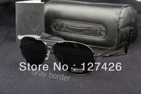 Free Shipping 1pcs/lot Men sunglasses New Design with Box tag silver border!