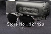 Free Shipping 1pcs/lot Men sunglasses New Design with Box tag silver border!