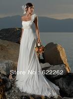 Most popular a Line one shoulder wedding dress high waist maternity wedding dress formal dress customize wedding dress summer