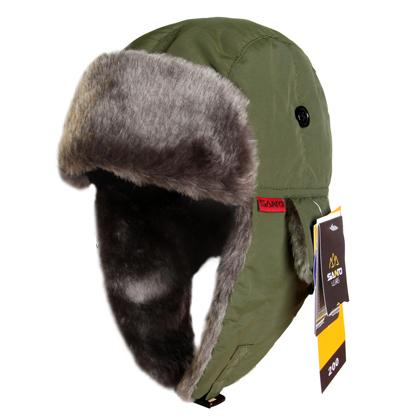 Santo Fur Hat Men Women Outdoor Winter Ear Skiing Hat Thermal Cap Bomber Hats m-65 Black/Red/Dark Grey/Blue Free Size 60CM(China (Mainland))