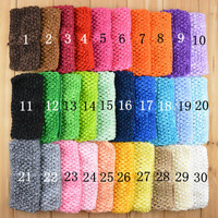 Free Shipping 27Color Crochet Head Band for Baby Hairbands 7cm  20pcs/lot H017