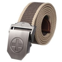 2014 New fashion unisex military fabric waistband thicken canvas brand belt with automatic buckle original free shipping FBB10
