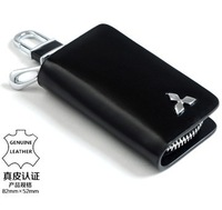 Mitsubishi Logo auto key wallet cover key holders car key bags keychain genuine leather car accessories Free shipping