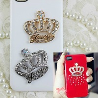 Min.$15 (Mixed Order) Crown Cell Phone DIY Alloy Decoration With Free Shipping