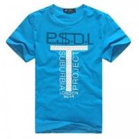 Free Shipping Men's clothing casual men's T-shirt loose short-sleeve shirt summer blue top summer clothing clothes