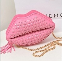 New arrival handbag rivets chain bag houlder bag women's Candy  rivet bag chain heart-shaped small bags