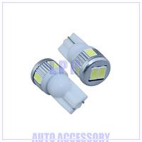 T10 6SMD 5630 chip high bright Car LED Bulbs auto Interior Lighting+ no polarity + Aluminum cover+12v-24v