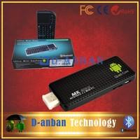 Mini PC Google Android 4.2 RK3188 Quad Core 1.8GHz TV Box 2G/8G 1080P HDMI for Television Set Black+[UKB-100-RF keyboard]