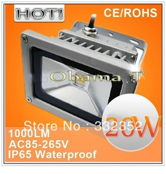 5XFree Shipping 10W 20W LED Flood Light IP65 Waterproof 85-265V high power outdoor Green Red Blue RGB Changeable Floodlight Lamp
