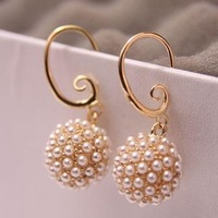 High quality pearls Flowers earrings jewelry Wholesale! AAA !Free Shipping! cRYSTAL sHOP