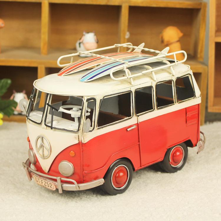 Free shipping Gift metal handmade iron model vintage decoration vw bus(China (Mainland))