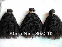 Free shipping Mixed length 3pcs 4oz/pc  Best quality Peruvian virgin hair extension Jerri curly machine weft hair