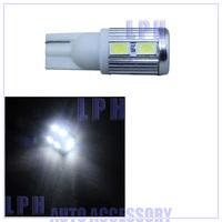 T10 10SMD 5630 chip high bright Car LED Bulbs + Canbus NO OBC+ no polarity + Aluminum cover+12v-24v