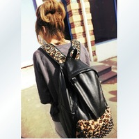Hot Fashion Korean Version of Leopard Rivets Packbag Student School Bag Girl Backpack Outdoor Travel Hiking Bag Backpack