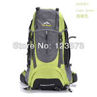 Free shipping travel bag sport backpack waterproof outdoor Climbing mountaineering hiking camping backpack women&men  65L