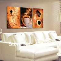 3 Piece Free Shipping Modern Wall Painting Still Life Coffee World Map Home Decorative Art Picture Paint on Canvas Prints A215