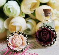 Onrabbit vintage lolita white powder red purple flower ring rose