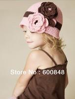 babys kids girls infant fashion hand beanie crochet cap NO.KC-BH-3