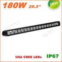 Free Shipping New 180W CREE LED Work Light  Bar 12V 24V IP67 Flood Spot beam For 4WD 4x4 Off road Light Bars TRUCK BOAT TRAIN