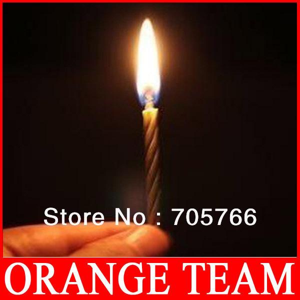 FreeShipping Magic Relighting Candles Magic Practical Birthday Jokes Gag Trick Prank Gifts 24packs/lot (10pcs/pack)(China (Mainland))