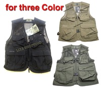 Hot Selling Fishing Camouflage quick-drying Multi-functional Vest Outdoor Hiking Photography Outerwear Vest