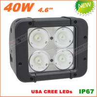 Free Shipping New 40W CREE LED Work Light  Bar 12V 24V IP67 Flood Spot beam For 4WD 4x4 Off road Light Bars TRUCK BOAT TRAIN