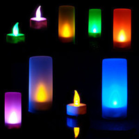 Romantic candle lights electronic voice-activated light colorful small night light induction lamp led acoustic control candle