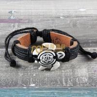 12pcs Cheap Sales Nepal Jewelry Cowhide Bracelet Recommend Genuine Leather Bangle Tortoise B0157