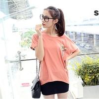 free shipping Female t-shirt summer short-sleeve 2013 basic shirt plus size plus size 100% cotton plus size t-shirt women's