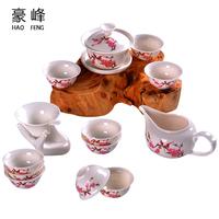 Kung fu tea set ceramic gifts tea set cup customize logo printing