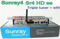 Sunray4 dm800 hd se SR4 2.10 Sim Card version with Triple tuner DVB-S(S2)/C/T +300M WIFI build in