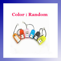 USB 2.0 TF T-Flash Micro SD Memory Card Reader colorful for PDA Phone MP3 leitor de cartao  #3201