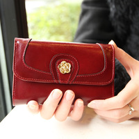 2013 new ME A brand brand new spring and summer female short paragraph wallet La Traviata bag large capacity oil wax skin leathe